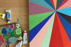 project 12 of 26 / a pinwheel painting.