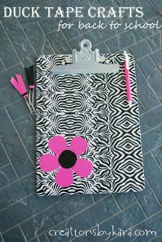 Cute back to school crafts using Duck Tape.