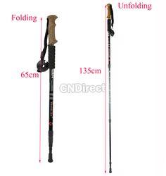 $3.90 Alpenstocks 3-Step Aluminum Alloy 3-section Hiking Pole