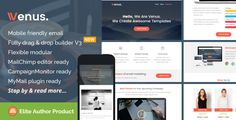 Venus, Multipurpose Email Theme   Builder Access by saputrad  Venus, Multipurpose Email Template   Builder Access Venus is a minimalist, responsive email marketing template for multipurpose use of email marketing. Venus comes with flexible modular help you easier to create, mix your own p