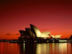 Red sky in Sidney