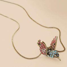 Hummingbird Necklace $58
