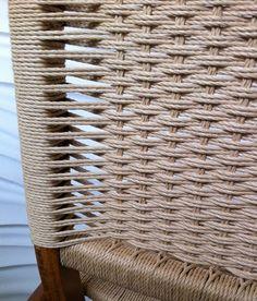 danish cord chair seat weaving pattern from modernchairrestoration.com