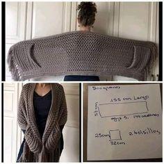 Gilet Crochet, Knit Or Crochet, Crochet Scarves, Crochet Clothes, Crochet Stitches, Doilies Crochet, Thread Crochet, Crochet Wrap Pattern, Crochet Patterns