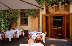 Restaurant Piperno in Rome since 1860, traditional Roman cuisine