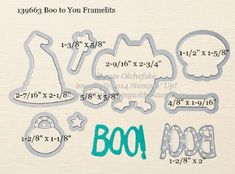 Boo to You Framelit sizes shared by Dawn Olchefske #dostamping #stampinup
