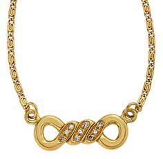 Diamond, Gold Necklace, Cartier The necklace features single-cut diamonds weighing a total of approximately 0.05 carat, set in 18k gold, marked Cartier. Gross weight 7.00 grams. Length: 15-1/2 inches Drop Dimensions: 3/8 inch x 1 inch