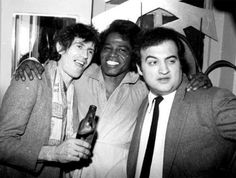 Keith Richards, James Brown and John Belushi