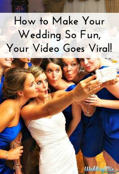 Super fun idea for your guests - involve everyone in creating & capturing awesome moments for your wedding video!  The free @WeddingMix app auto-collects everyone's silly snapshots, video messages, and even the priceless moments you missed. Then, editors transform their epic photos & videos into your fantastically fun wedding video!