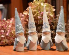Poupée peg roi hiver gnomes-jeu de 2