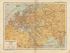 Such an interesting map!  See how communications and transport were in 1909.