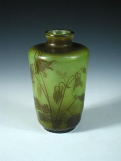Désiré Christian (French, 1846-1907), a Meisenthal cameo glass vase,