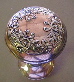 Antique Copper Ornate Door Knob Set