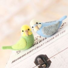 Twin Budgerigar - Wool Needle Felted Animal Mascot Kit Craft Bird Instructions