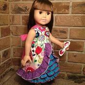 "Irelyn's Peek-A-Boo Ruffle 18""Doll Dress - via @Craftsy"