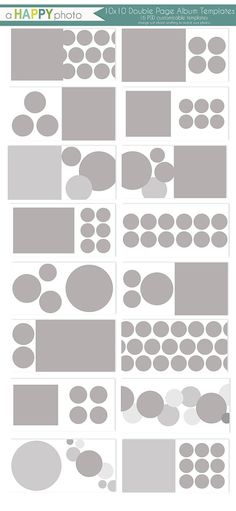10x10 Album Circles 16 double page spread by ahappyphoto on Etsy