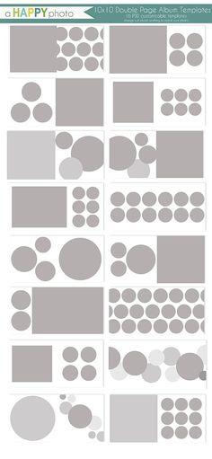 10x10 Album Circles  16 double page spread por ahappyphoto en Etsy
