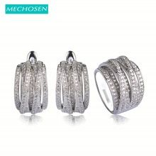 Cheap wedding jewelry sets, Buy Quality jewelry sets directly from China jewelry set silver Suppliers: MECHOSEN Luxury Copper Wedding Jewelry Sets Silver Color Earrings Ring For Women Prong Setting Zirconia Brincos Anel Schmuck Vaz Wedding Jewelry Sets, Jewelry Party, Wedding Rings, Copper Wedding, Crystal Wedding, Cubic Zirconia Rings, Cool Things To Buy, Stuff To Buy, Copper Jewelry