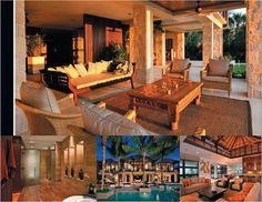 "Captiva Home wins prestigious ""Best Interior Design Award"" for 2012 Interior Design Awards, Best Interior Design, Pool Cabana, Balinese, Beach House, Florida, Patio, Mansions, Architecture"