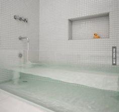 Cool clear bathtub