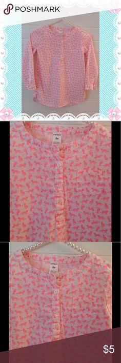 Carter's Girls Cotton Blouse Cute Carter's Cotton Blouse.  Pink Fox Print.  100% Cotton.  Machine Wash. Carter's Shirts & Tops Blouses