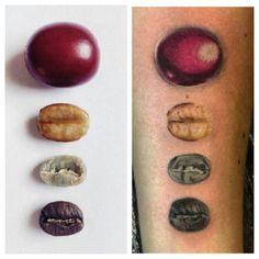 BRACE FOR CARNAGE, Coffee beans @newyorkcoffeefestival #tattoos...