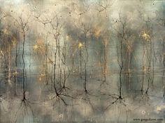 人間の脳は美しい・・・神経細胞を墨絵に見立てアートとして表現した神経学者