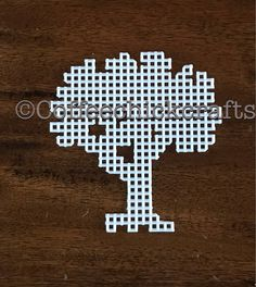 Plastic Canvas Tree Cutout https://www.etsy.com/listing/526859549/plastic-canvas-tree-cut-outs-plastic