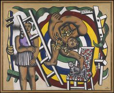 Fernand Leger - The Acrobat and his Partner, 1948 at Tate Modern Art Gallery London England Marcel Duchamp, Georges Braque, Piet Mondrian, Gif Sur Yvette, Tate Modern Art, Contemporary Art, Jean Leon, Francis Picabia, Tate Gallery