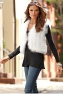 Fluffy feather vest|Boston Proper
