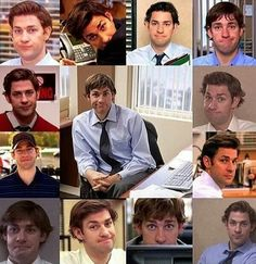 Jim's faces. The Office.