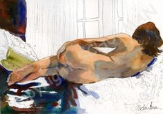 nude figure drawing Female Nude Art Signed artistic di SchulmanArt