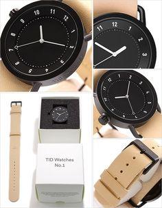 【楽天市場】[即出荷] ティッドウォッチ腕時計 TIDWatches時計 TID Watches 腕時計 ティッド TIDウォッチ 時計 TID腕時計 メンズ/レディース/ユニセックス/男女兼用/ブラック TID01-BK-N [革 ベルト/おしゃれ/防水/北欧/アナログ/ベージュ/ホワイト][送料無料][新春セール][プレゼント]:セレクト腕時計のお店 WATCH-LAB