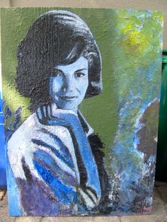Jackie | David Charles Fox | Acrylic on Wood davidcharlesfoxexpressionism.com #jackieo #expressionism #expressionist