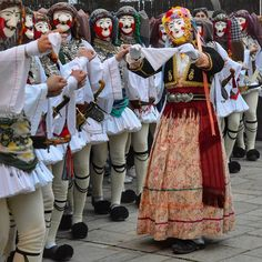 Náousa, Imathia, Greece  Γενίτσαροι και Μπούλες . Greek Traditional Dress, Traditional Outfits, Story Of The World, People Of The World, Macedonia Greece, Costumes Around The World, Greek Culture, In Ancient Times, Folk Costume