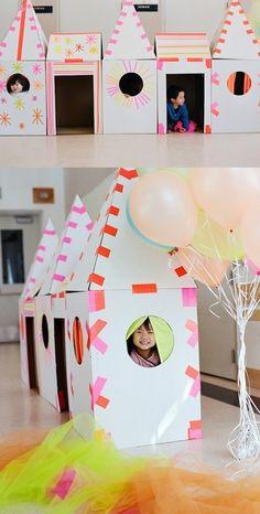 cardboard tape houses