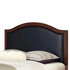 Home Styles Duet Leather Inset Headboard - Black (Full/Queen) at Target