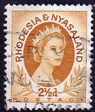 Postage Stamps Rhodesia and Nyasaland 1954 Queen Elizabeth II SG 3a Fine Used SG 3 Scott 143B For Sale Take A LOOK