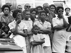 16th Street Baptist Church Bombing  Mourners outside funeral services for Carol Robertson, one of four girls killed in the 1963 bombing.
