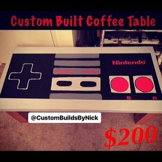 NOW SENDING INVOICES for custom #nintendo #nes controller #coffeetable perfect piece for any #gamer or #valentinesday gift! . . #gamergirl #n64 #xboxone #xbox #playstation #playstation4 #ps4 #nintendoswitch #legendofzelda #donkeykong #supermario #pokemon #gamers #videogames #supersmashbros #giftidea #giftforhim #gift #valentines #valentinesgift