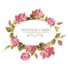 Vintage greeting card watercolor vector - by Depiano on VectorStock®