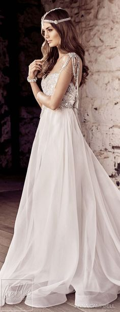 "With bold and intoxicating wedding dresses that are ""Everything"", Anna Campbell 2018 Eternal Heart Collection is a bridal-fashion moment not to be missed. Fancy Wedding Dresses, Elegant Dresses, Wedding Gowns, Anna Campbell, Peacock Wedding, Vintage Bridal, Beautiful Gowns, Bridal Collection, Bridal Style"