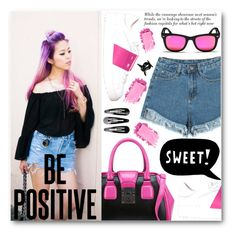 """""""Be Positive"""" by stylemoi-offical ❤ liked on Polyvore featuring moda, Valentino, ESPRIT, Ray-Ban e H&M"""
