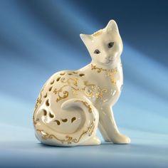 Jewels of Light Cat Figurine by Lenox