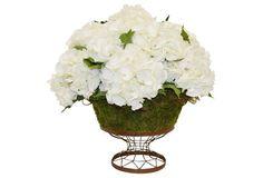 """20"""" Hydrangea Bouquet in Planter, Faux"""