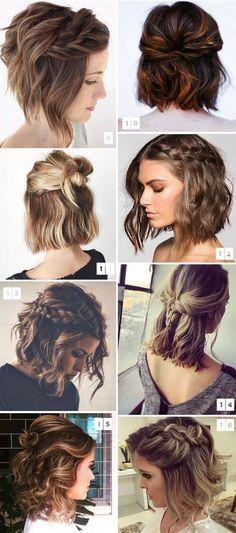 16 Penteados para Cabelos Curtos Muito Pinados no Pinterest