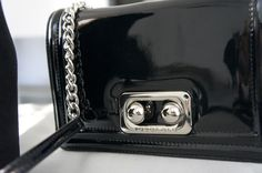 Giuseppe Zanotti Maxi Wedge Black Court Shoes And Tosca Blu Torroncino Shine Handbag