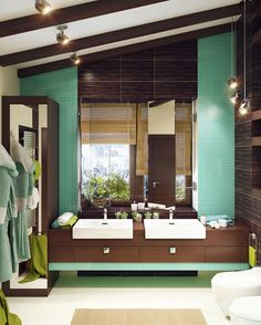7 Modern Bathroom Designs with Different Special Color Theme by Rusu Ruslan