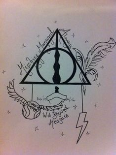 33 Trendy Ideas For Tattoo Harry Potter Hogwarts Deathly Hallows Harry Potter Tattoos, Harry Potter Symbols, Harry Potter Love, Harry Potter Fandom, Harry Potter Hogwarts, Deathly Hallows Symbol, Harry Potter Deathly Hallows, Trendy Tattoos, Unique Tattoos