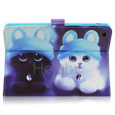 Adorable Cats Magnetic Side Flip Stand TPU+ PU Leather Case for iPad Mini 3 iPad Mini 2 Retina iPad Mini
